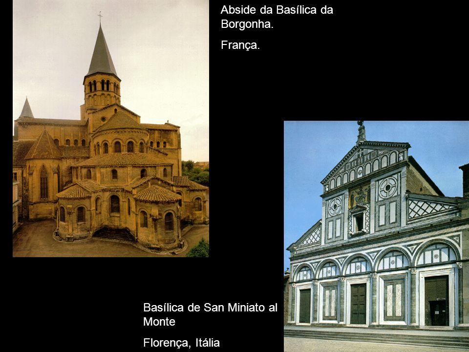 Abside da Basílica da Borgonha. França. Basílica de San Miniato al Monte Florença, Itália