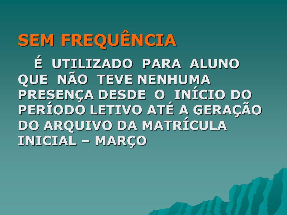 AUDITORIA DE ALUNO TRANSFERIDO- SEM DESTINO