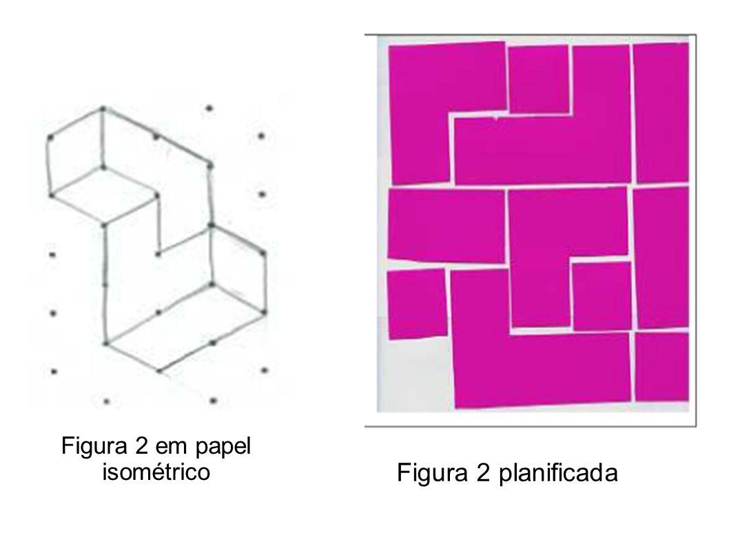 Figura 2 em papel isométrico Figura 2 planificada