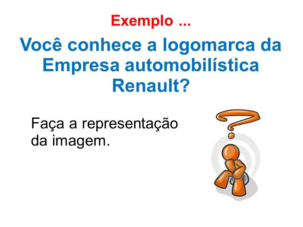 Exemplo... Você conhece a logomarca da Empresa automobilística Renault? Faça a representação da imagem.