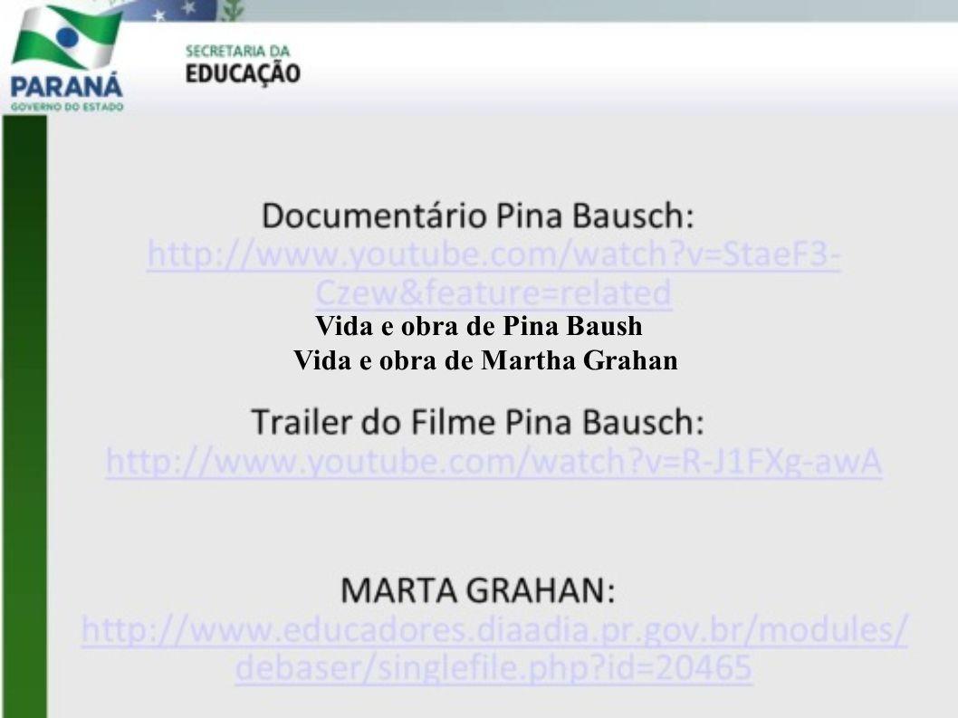 Vida e obra de Pina Baush Vida e obra de Martha Grahan