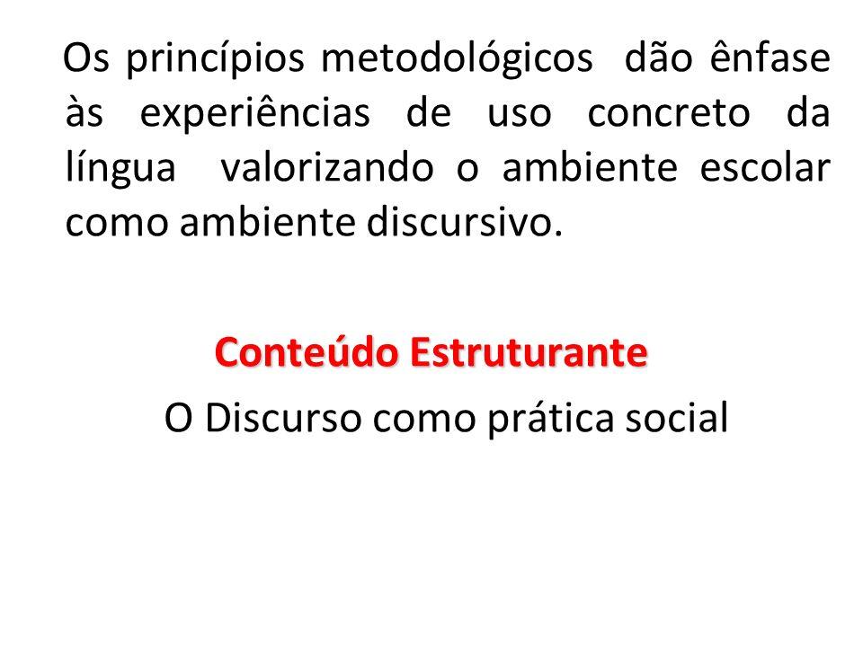Discurso: atividade comunicativa ligada a efeito de sentido, ao social, ao ideológico e não apenas na materialidade do texto.