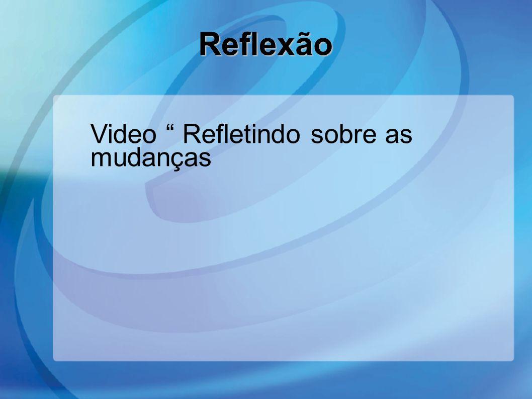 Reflexão Video Refletindo sobre as mudanças