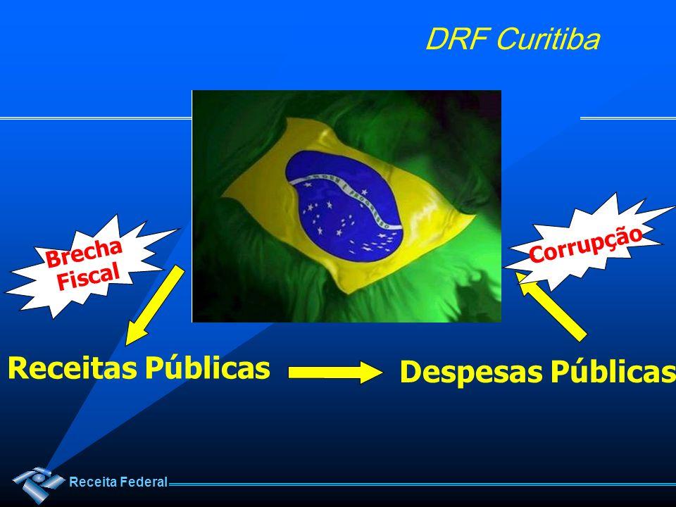 Receita Federal DRF Curitiba Receitas Públicas Despesas Públicas Corrupção Brecha Fiscal