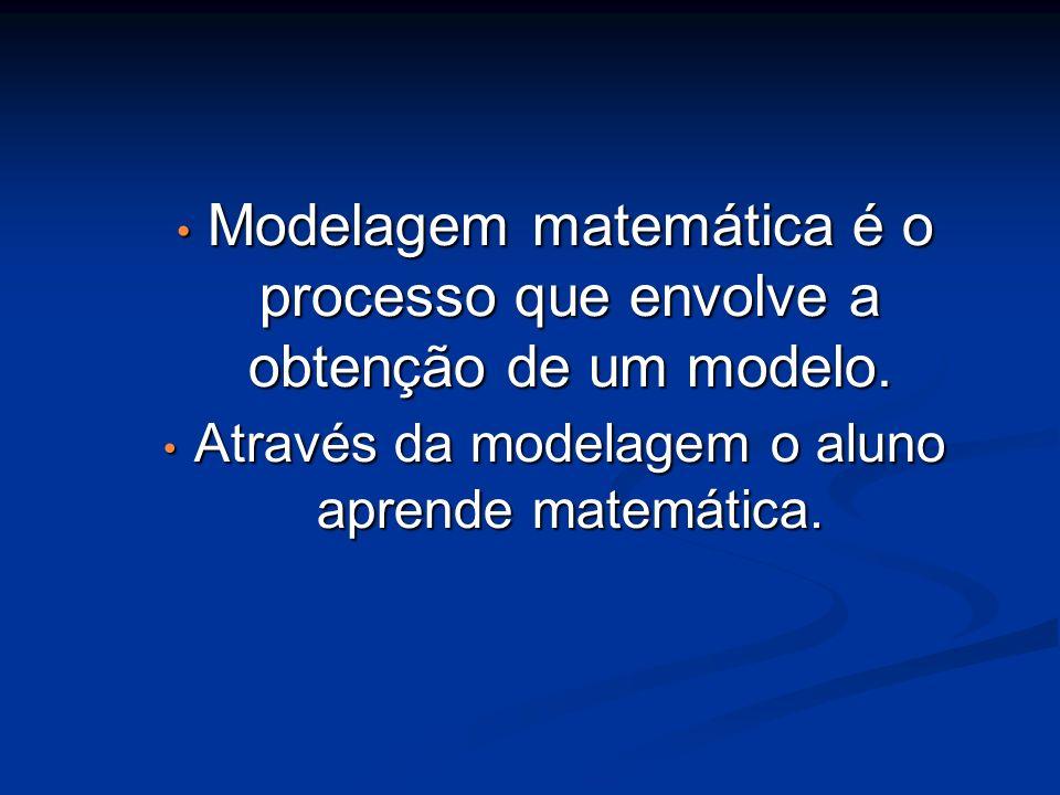 Modelagem matemática é o processo que envolve a obtenção de um modelo. Modelagem matemática é o processo que envolve a obtenção de um modelo. Através