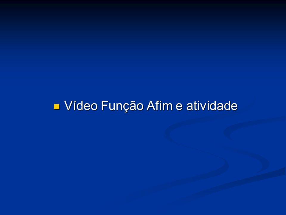 Vídeo Função Afim e atividade Vídeo Função Afim e atividade