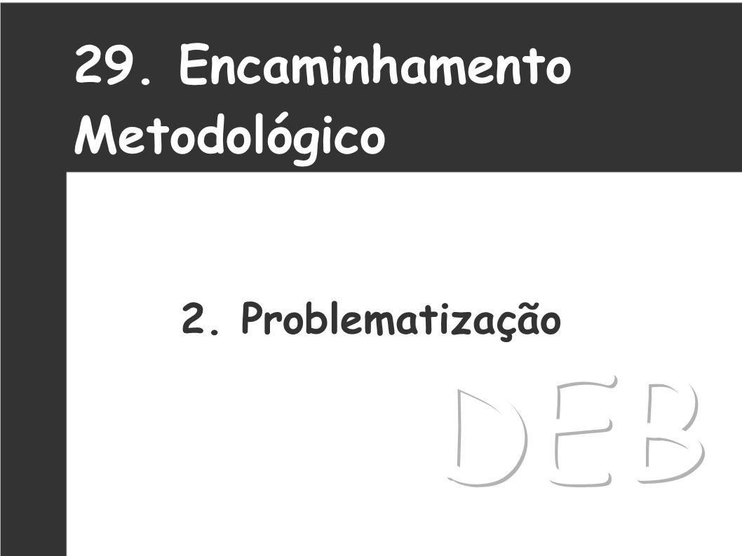 29. Encaminhamento Metodológico 2. Problematização