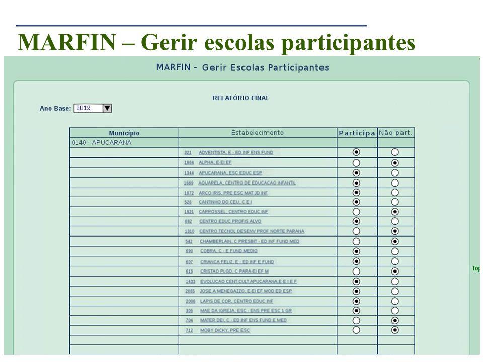 27 MARFIN – Gerir escolas participantes