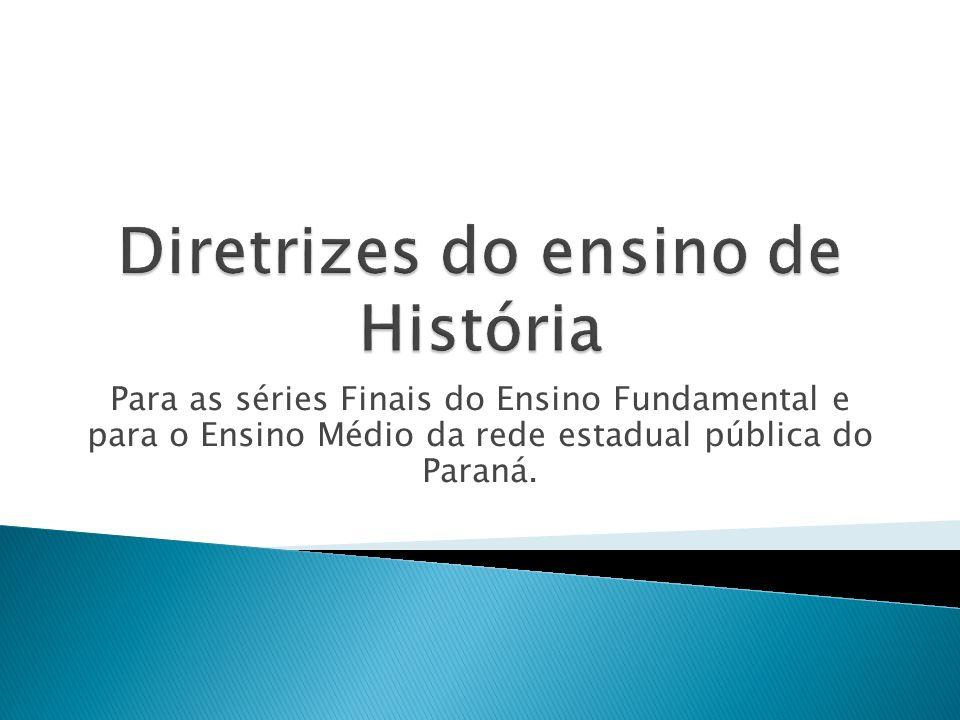 Para as séries Finais do Ensino Fundamental e para o Ensino Médio da rede estadual pública do Paraná.