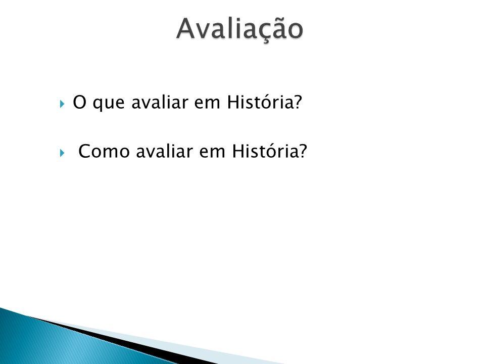 O que avaliar em História? Como avaliar em História?