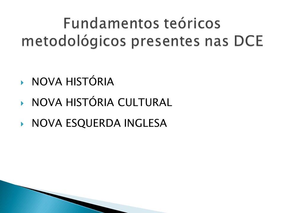 NOVA HISTÓRIA NOVA HISTÓRIA CULTURAL NOVA ESQUERDA INGLESA