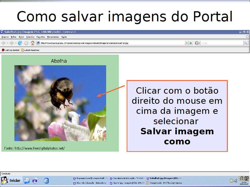 FORMATAR IMAGEM Título da apresentação Para formatar a imagem, clico nela com o botão direito do mouse e seleciono a opção que quero mudar