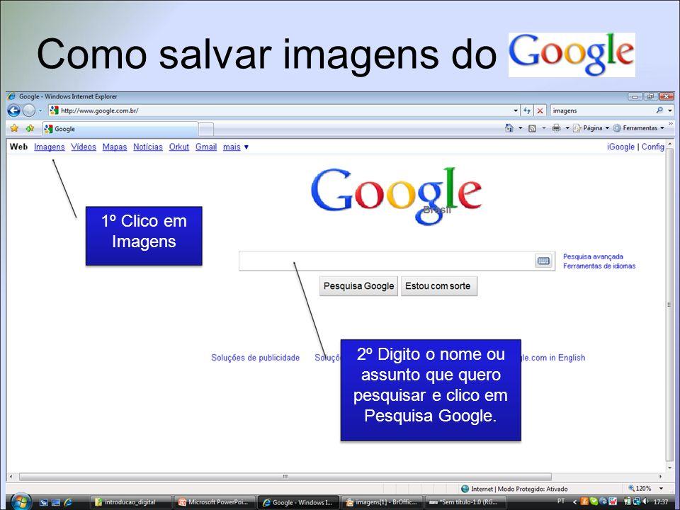 Como salvar imagens do Clique na imagem escolhida