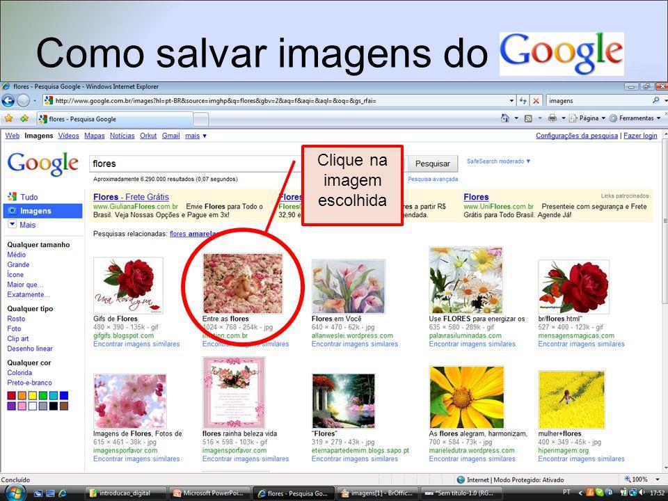 Como salvar imagens do Clique em Ver a imagem em tamanho grande