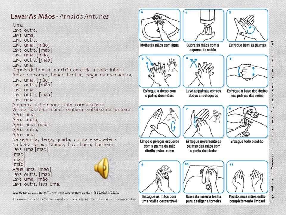 Uma, Lava outra, Lava uma, Lava outra, Lava uma, [mão] Lava outra, [mão] Lava uma, [mão] Lava outra, [mão] Lava uma. Depois de brincar no chão de arei