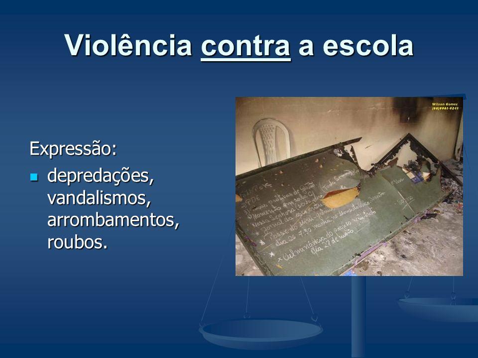 Definições preliminares Violência em meio escolar situa fenômenos distintos: Violência em meio escolar situa fenômenos distintos: - violência contra a
