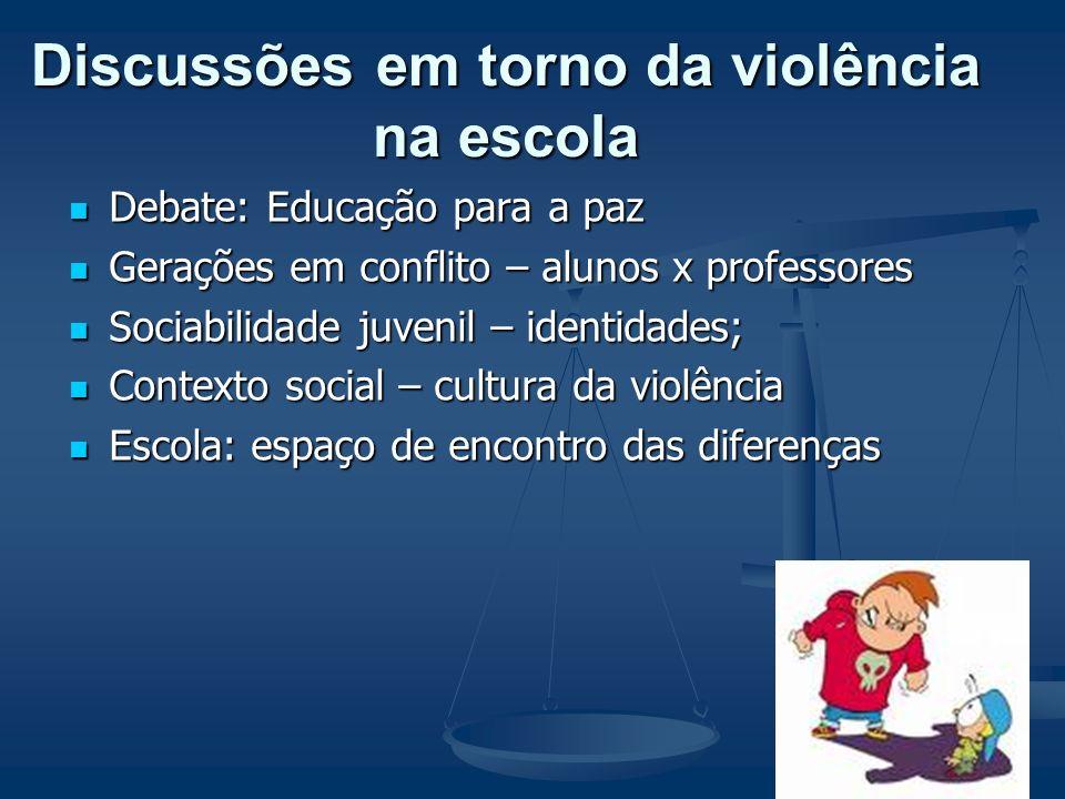 Violência na escola Expressão: Bullying: xingamentos, incivilidades, desrespeitos, humilhações, ameaças Bullying: xingamentos, incivilidades, desrespe