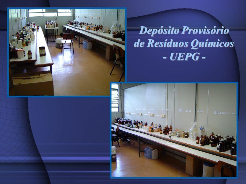 Depósito Provisório de Resíduos Químicos - UEPG -