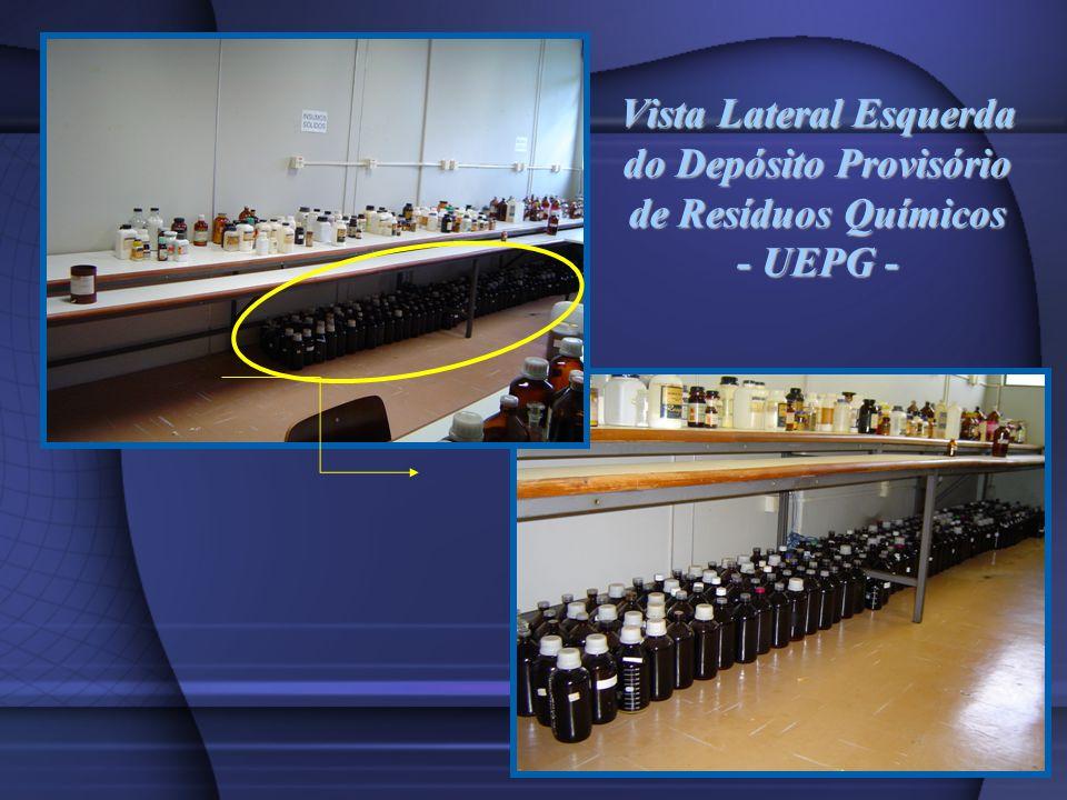 Vista Lateral Esquerda do Depósito Provisório de Resíduos Químicos - UEPG -