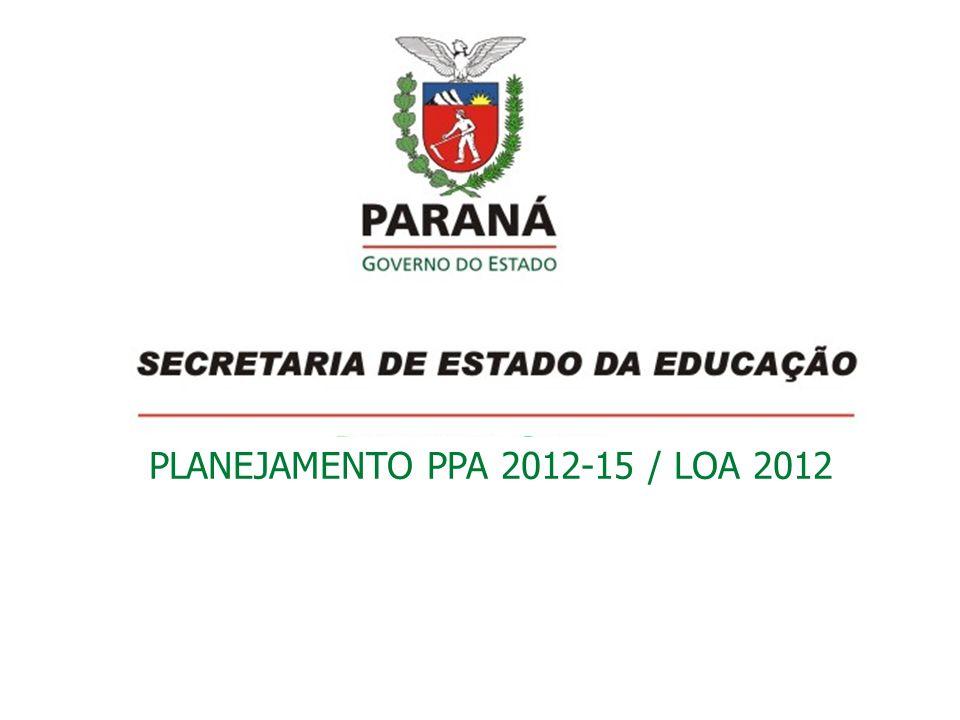 PLANEJAMENTO PPA 2012-15 / LOA 2012
