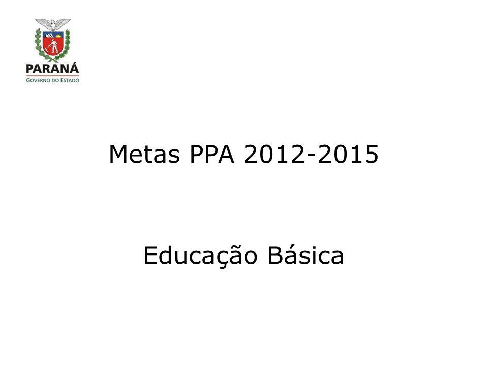 Metas PPA 2012-2015 Educação Básica