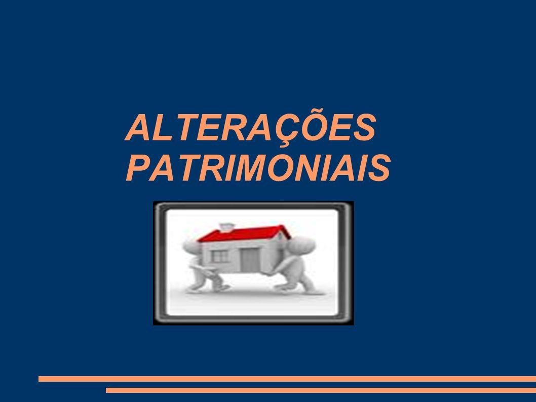 ALTERAÇÕES PATRIMONIAIS