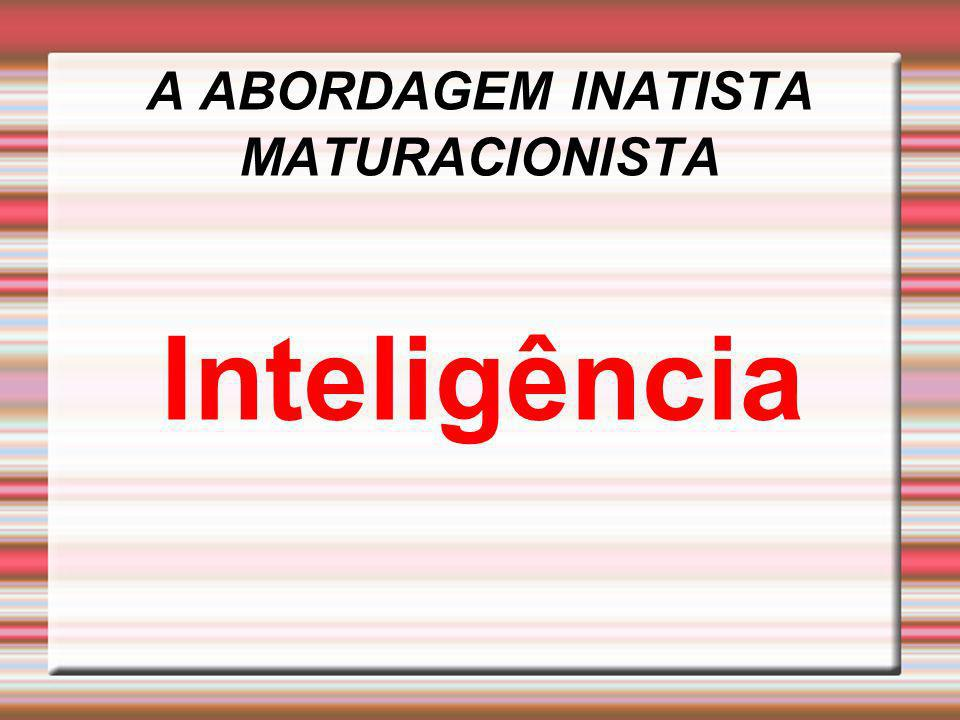 A ABORDAGEM INATISTA MATURACIONISTA Inteligência