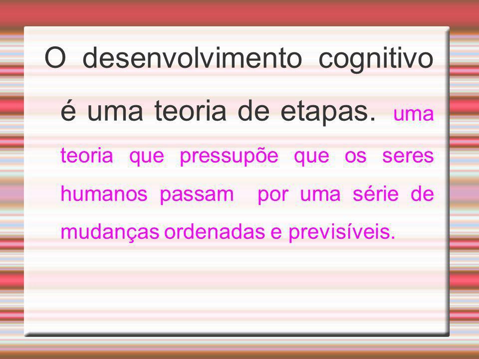 O desenvolvimento cognitivo é uma teoria de etapas. uma teoria que pressupõe que os seres humanos passam por uma série de mudanças ordenadas e previsí