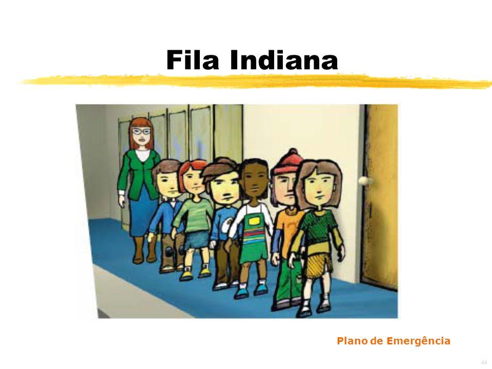 44 Fila Indiana Plano de Emergência