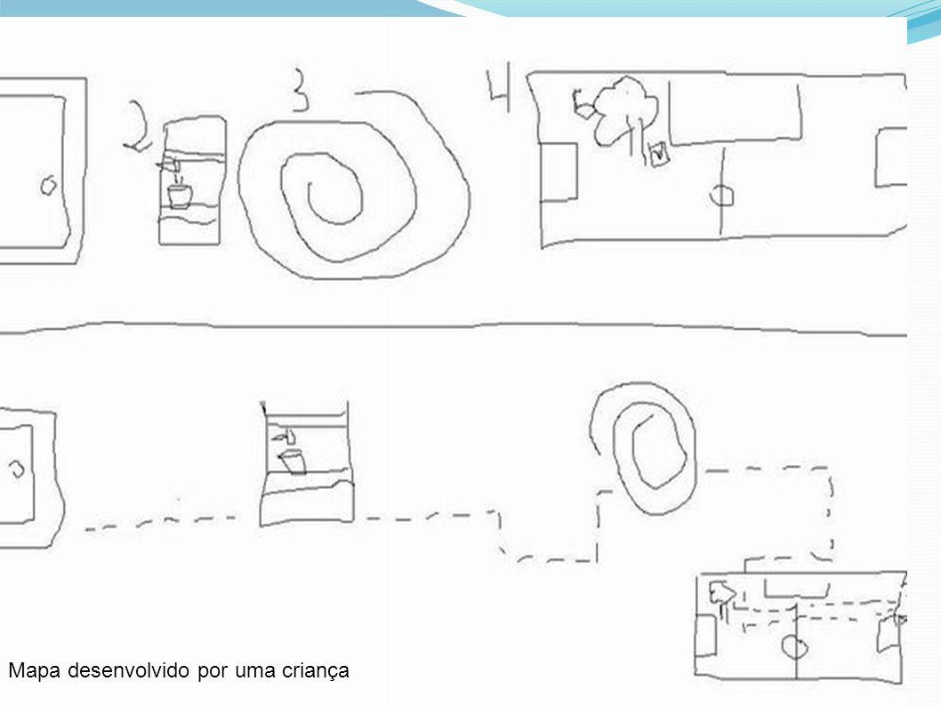Mapa desenvolvido por uma criança
