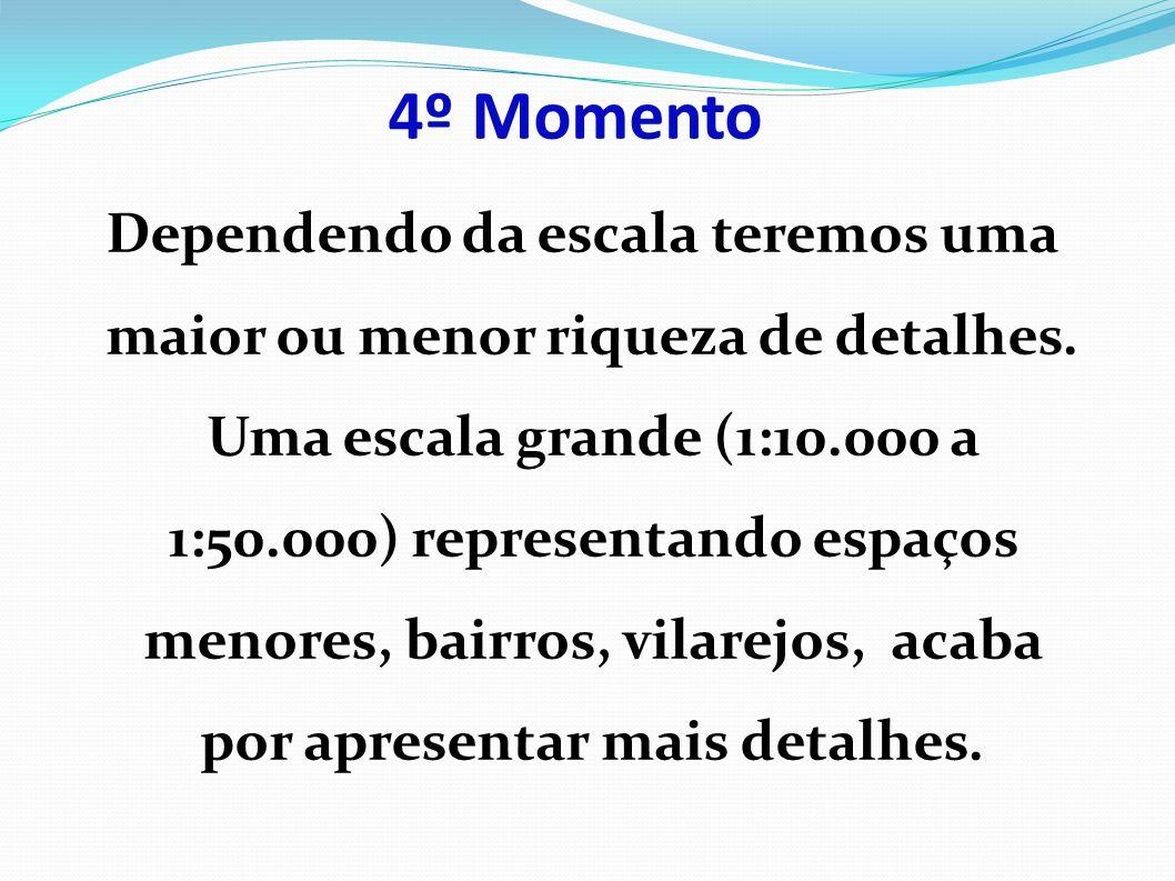 4º Momento Dependendo da escala teremos uma maior ou menor riqueza de detalhes.