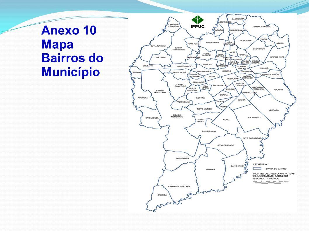 Anexo 10 Mapa Bairros do Município