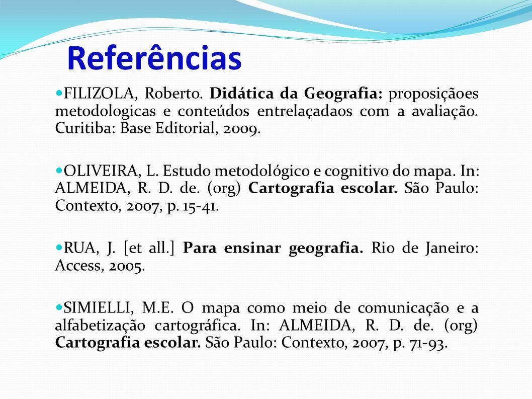 Referências FILIZOLA, Roberto.