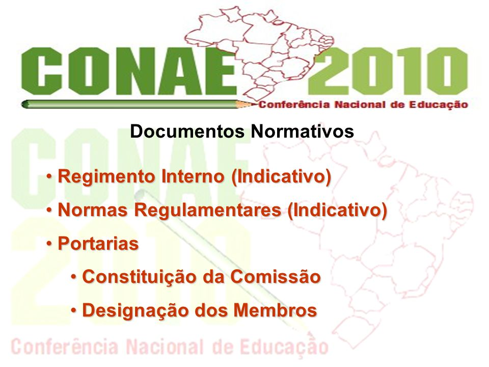 Documentos Normativos Regimento Interno (Indicativo) Regimento Interno (Indicativo) Normas Regulamentares (Indicativo) Normas Regulamentares (Indicati