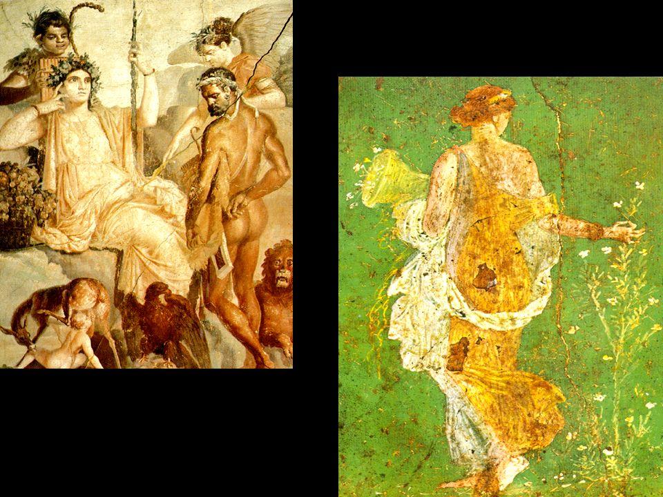 Mosaico - musa Origem: em Creta e Mesopotâmia Técnica amplamente usada na decoração de interiores romana.