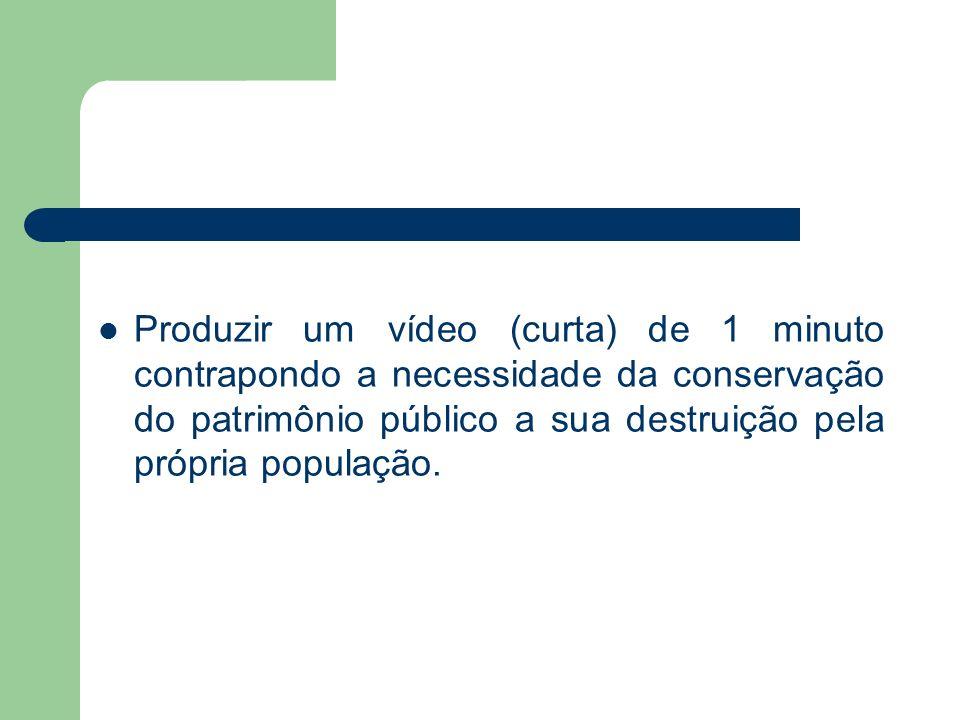 Processo de produção do vídeo Estudo com um grupo de alunos do ensino fundamental e médio de textos que tratam da importância da fiscalização sobre os bens públicos através de uma educação fiscal.