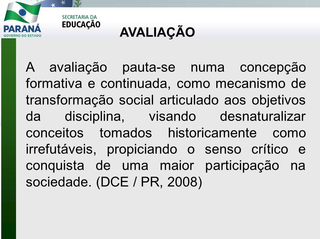 CRITÉRIOS DE AVALIAÇÃO CRITÉRIOS DE AVALIAÇÃO Definem os propósitos do que especialmente se avalia e em que dimensão (partem do conteúdo e não do instrumento).