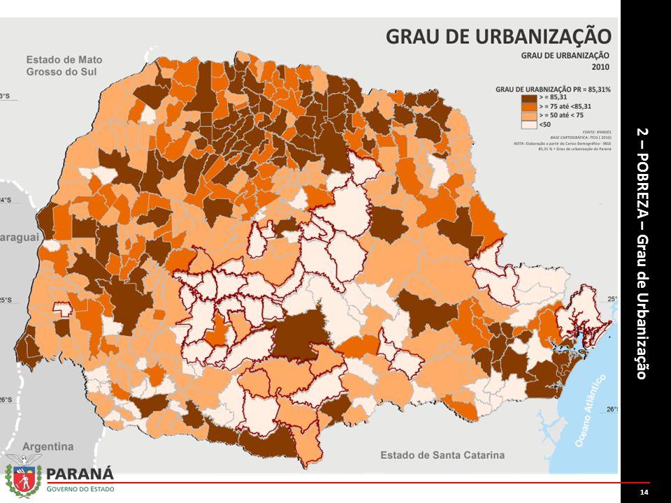 2 – POBREZA – Grau de Urbanização 14