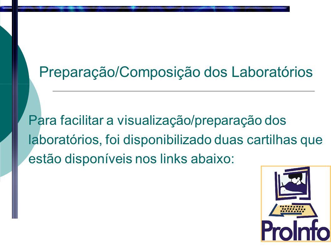 Preparação/Composição dos Laboratórios Para facilitar a visualização/preparação dos laboratórios, foi disponibilizado duas cartilhas que estão disponíveis nos links abaixo: