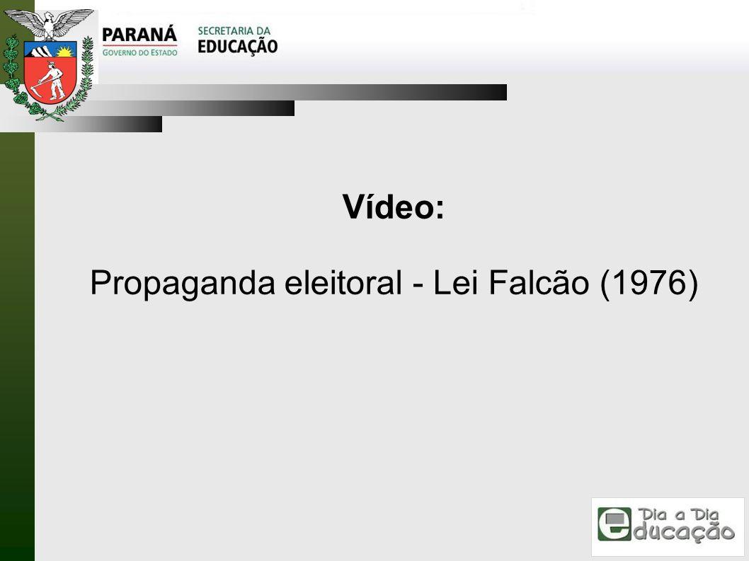 Vídeo: Propaganda eleitoral - Lei Falcão (1976)