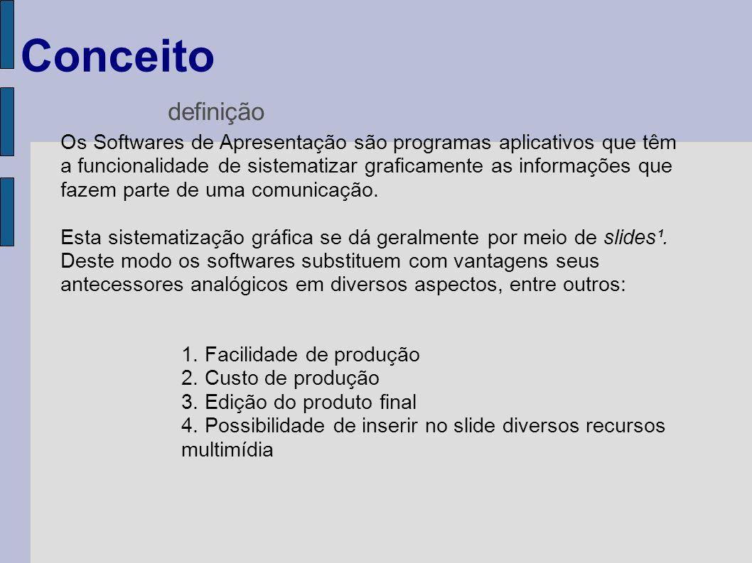 Os Softwares de Apresentação são programas aplicativos que têm a funcionalidade de sistematizar graficamente as informações que fazem parte de uma com