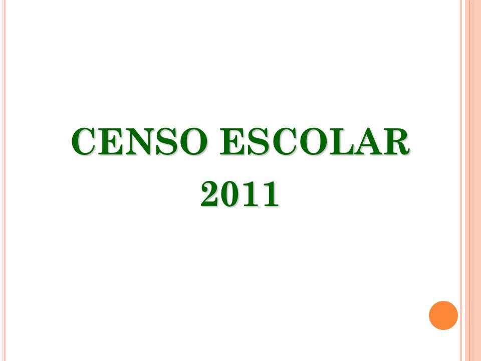 CENSO ESCOLAR 2011