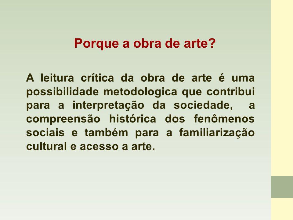 Reflexão sociológica a partir da obra de arte A leitura crítica das obras, visitas a museus e exposições ajudam no entendimento das questões sociológicas discutidas pelo professor.