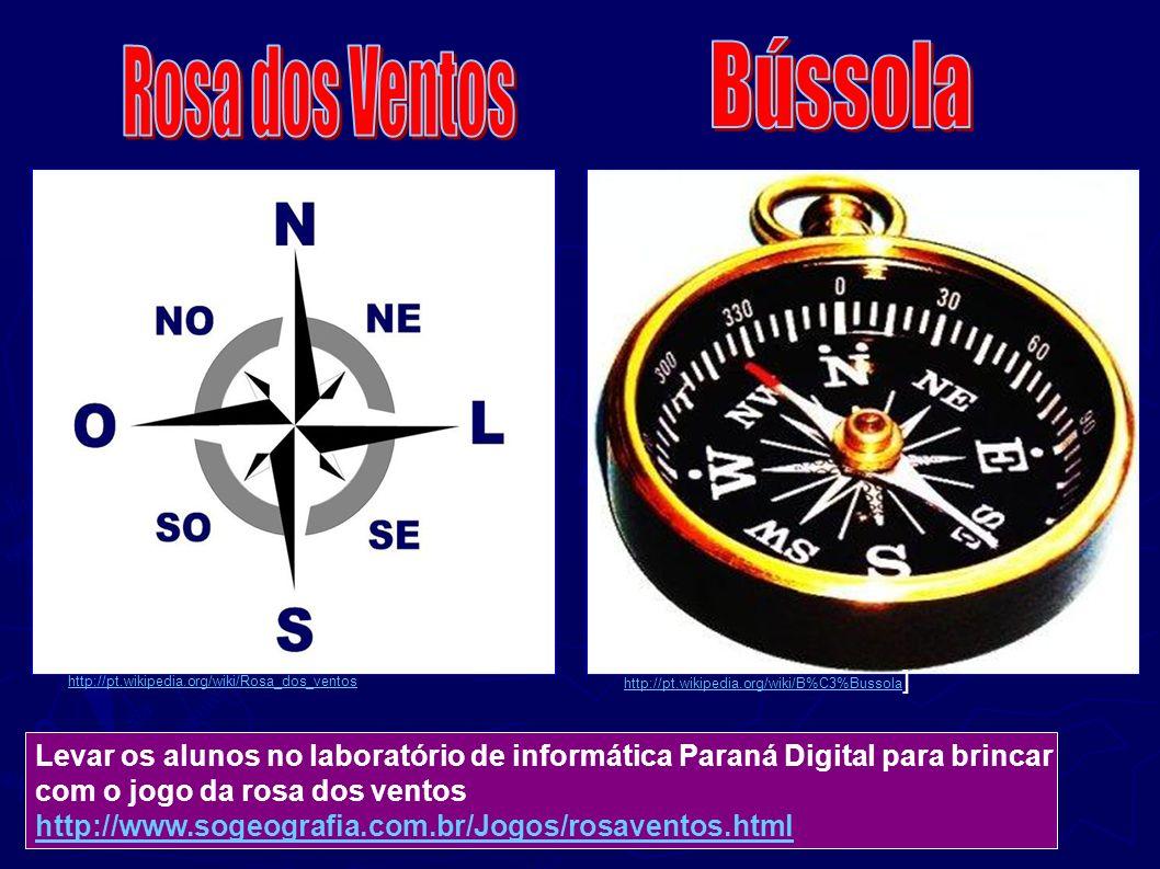 http://pt.wikipedia.org/wiki/B%C3%Bussola http://pt.wikipedia.org/wiki/B%C3%Bussola ] http://pt.wikipedia.org/wiki/Rosa_dos_ventos Levar os alunos no