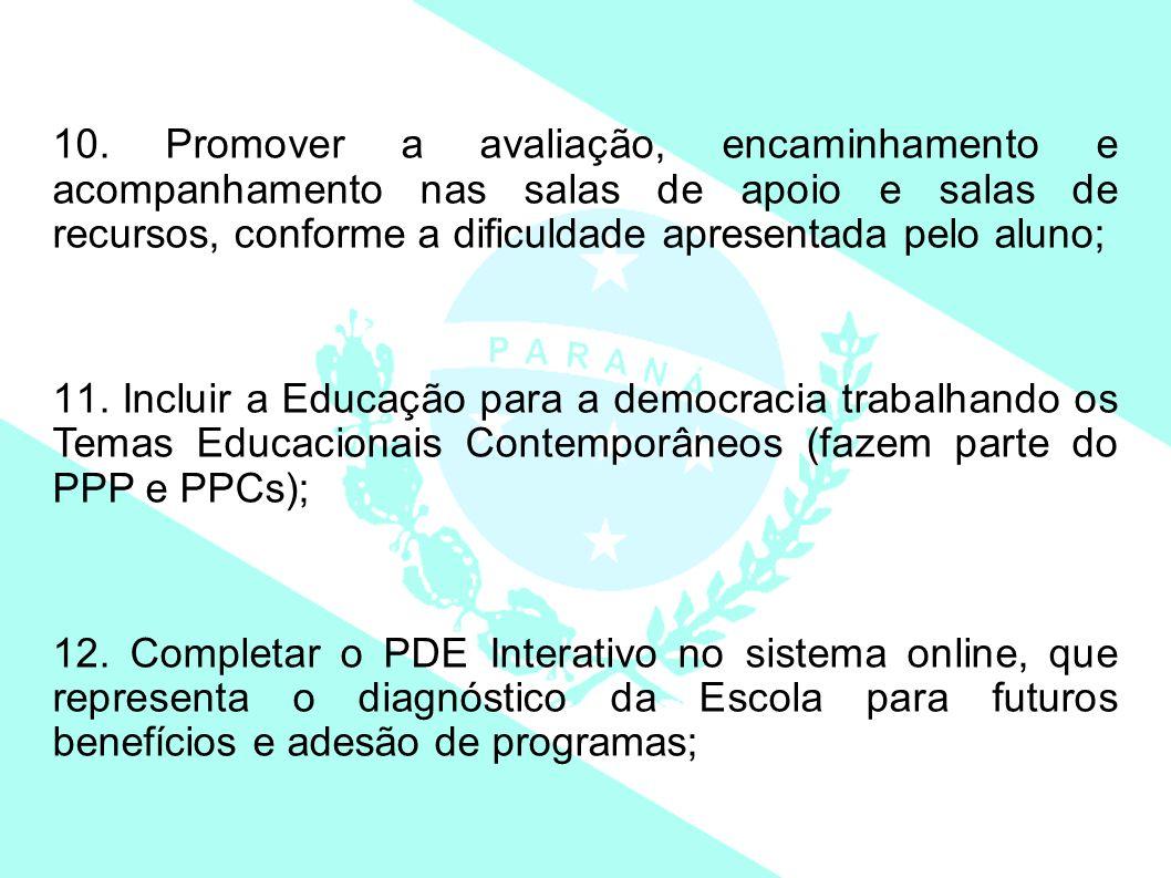 13.Retomar o anexo IV da Semana Pedagógica – fev- 2013, analisando o Plano de Ação do 1º sem.