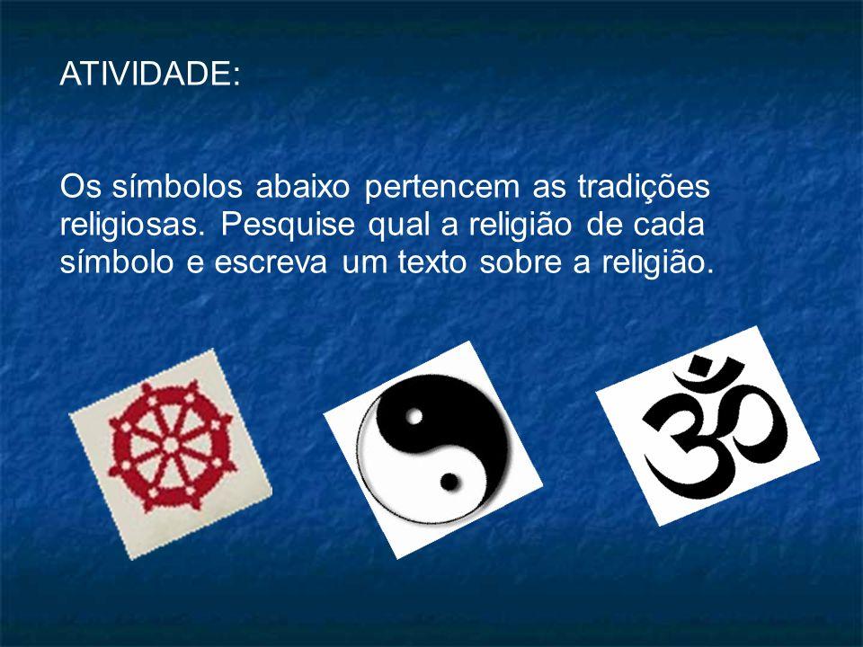 Atividade: Existem outros símbolos femininos que são considerados Sagrados para as religiões.