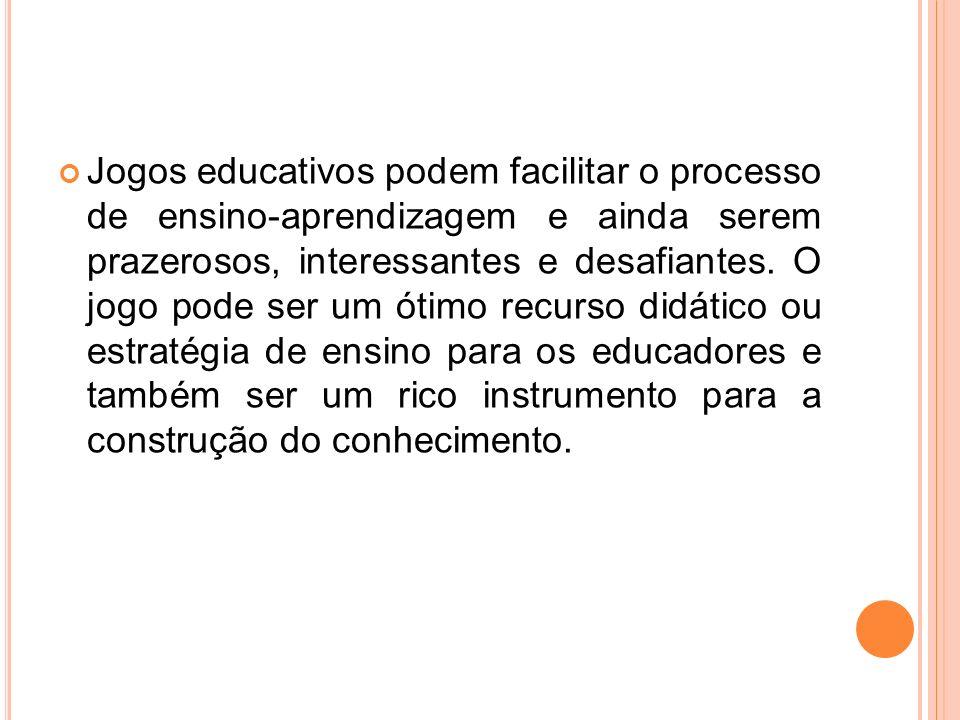 O BJETIVOS -Desenvolver o raciocínio e a concentração do aluno; -Mediar o acesso ao conhecimento, a partir da observação, da análise, da organização e execução do jogo.