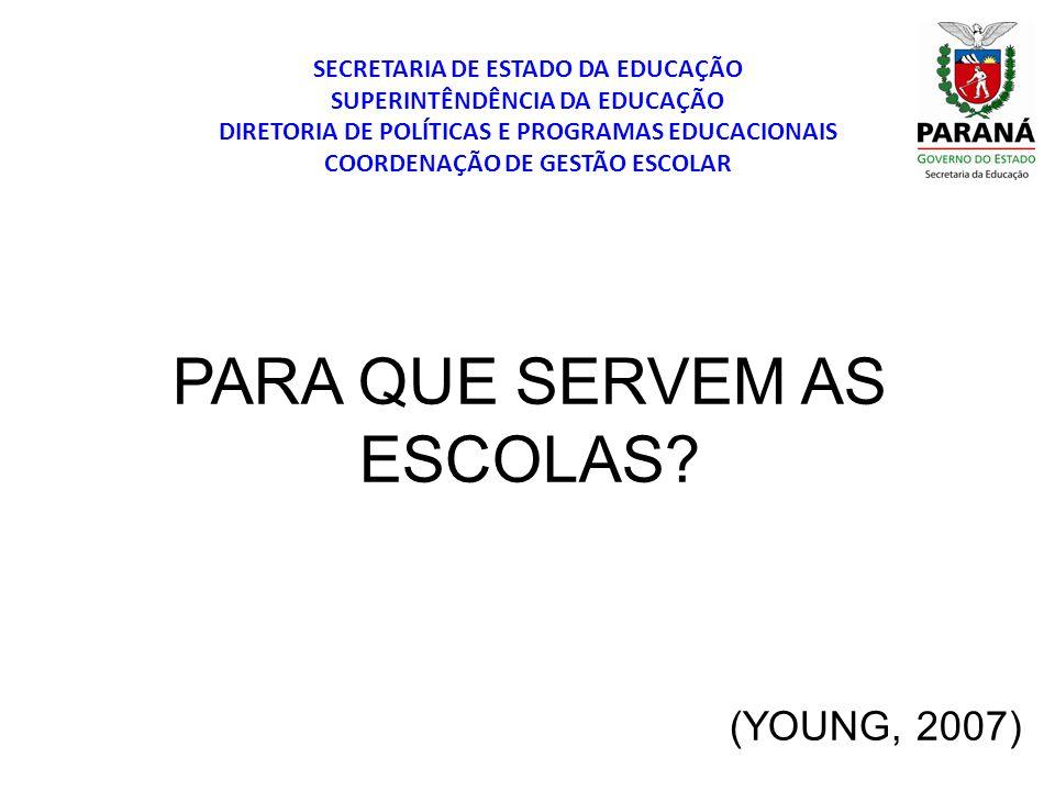 SECRETARIA DE ESTADO DA EDUCAÇÃO SUPERINTÊNDÊNCIA DA EDUCAÇÃO DIRETORIA DE POLÍTICAS E PROGRAMAS EDUCACIONAIS COORDENAÇÃO DE GESTÃO ESCOLAR Expansão da escolarização Conhecimento escolar Conhecimento não escolar Avaliação contemporânea Demandas políticas Desejos emancipatórios Currículo relevante TENSÕES E CONFLITOS DE INTERESSES NA SOCIEDADE MAIS AMPLA