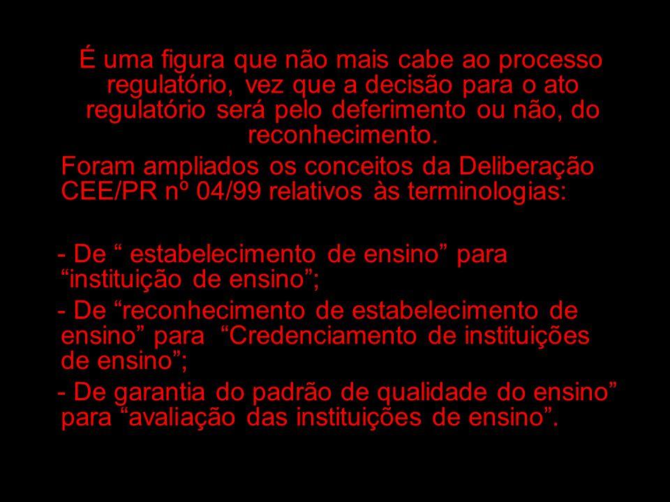 Tendo em conta que há 11 (onze) anos vigora a Deliberação CEE/PR nº 04/99, no sistema Estadual de Ensino do Paraná, importante é que todos os envolvidos no processo: instituições de ensino e órgãos de administração de ensino, tenham conhecimento dos aperfeiçoamentos ocorridos nos dispositivos da Deliberação CEE/PR nº 04/99, para a Deliberação CCE/PR nº 02/10.