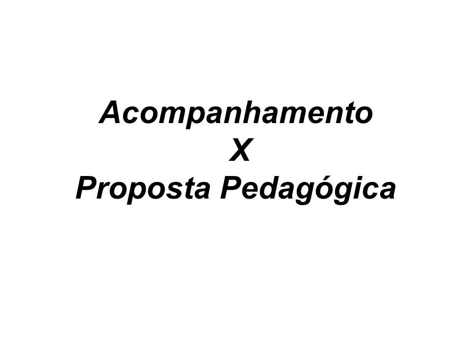 Acompanhamento X Proposta Pedagógica